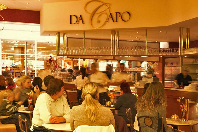 Das Eiscafé Da Capo im Lausitz-Park in Cottbus